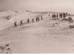 Sciatori sulle pendici del monte Vermicano mt 1948 s.l.m.